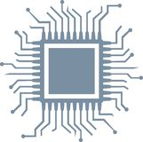 CPU computer chip royalty free illustration