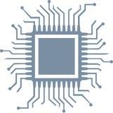 CPU computer chip. Hardware vector stock illustration