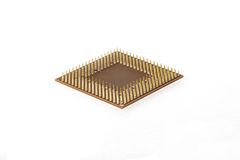 CPU. Computer processor unit on white background. Royalty Free Stock Images