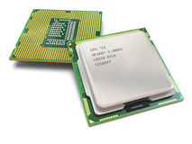 CPU. Computer's processors Royalty Free Stock Photos