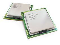CPU. Computer's processors Royalty Free Stock Photo