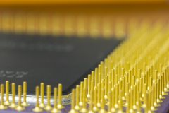 CPU contacts, macro. Macro shot of CPU contacts Royalty Free Stock Photography