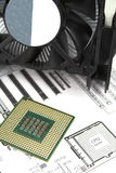 Cpu and cooler stock photo