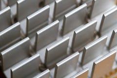 Cpu cooler. Aluminum cpu cooler heat sink  on white Stock Photography
