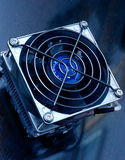 CPU Cooler Detail. CPU cooler, blue toned Stock Images