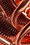 CPU cooler with heat pipes Stock Photo