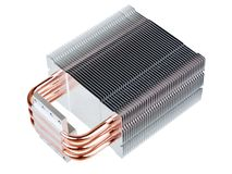 CPU Cooler with heatpipes Stock Images