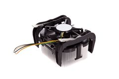CPU Cooler isolated on white background royalty free stock image
