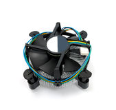 CPU cooler. Isolated on a white background Royalty Free Stock Images