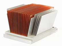 CPU cooler radiator Stock Image