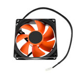 Cpu cooler red fan Royalty Free Stock Photography