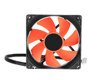 Cpu cooler red fan on white Royalty Free Stock Image