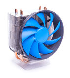 Cpu cooler on a white background Stock Images