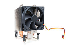 CPU cooler on white background Stock Photos