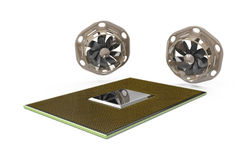 CPU cooling Stock Photo