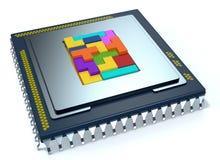 CPU, cpu Royalty-vrije Stock Afbeelding