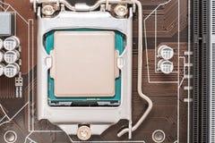 CPU (cpu) Spaander stock fotografie