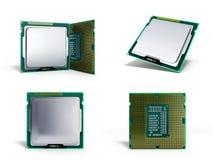 CPU 3d di alta risoluzione delle unità di elaborazione del computer centrale della raccolta Fotografia Stock Libera da Diritti