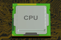 Cpu, 3D rendering Stock Images