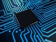 CPU dans le bleu Image libre de droits