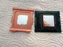 CPU de Delidded Skylake fotos de archivo