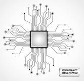 CPU de la tarjeta de circuitos ilustración del vector