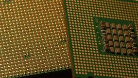 CPU de la unidad central de proceso, cierre encima del vídeo 4K metrajes