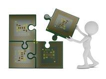 CPU de los rompecabezas Fotos de archivo