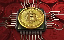 CPU del bitcoin 3d royalty illustrazione gratis