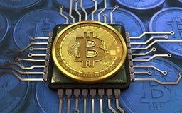 CPU del bitcoin 3d Foto de archivo