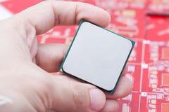 CPU del computer a disposizione Immagini Stock