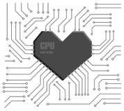 CPU del corazón Fotografía de archivo libre de regalías