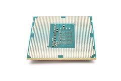 CPU del ordenador aislada en blanco Fotos de archivo libres de regalías