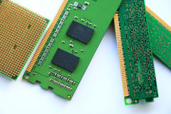 CPU del ordenador y RAM Foto de archivo