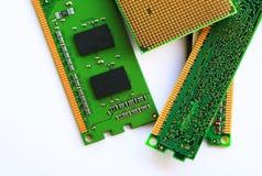CPU del ordenador y RAM Foto de archivo libre de regalías