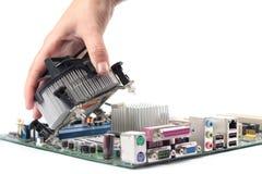 CPU del ventilador del mainboard del ordenador Fotos de archivo libres de regalías