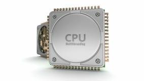 CPU delle unità di elaborazione del computer centrale video d archivio