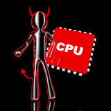 CPU Devil Royalty Free Stock Image