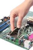 CPU di mainboard del calcolatore Fotografie Stock