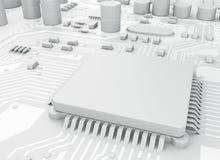 CPU di Proccesors del computer centrale 3d illustrazione vettoriale