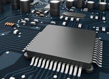 CPU di Proccesors del computer centrale 3d Fotografia Stock