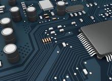 CPU di Proccesors del computer centrale 3d Immagine Stock Libera da Diritti