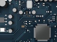 CPU di Proccesors del computer centrale 3d royalty illustrazione gratis