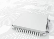 CPU di Proccesors del computer centrale 3d Fotografie Stock Libere da Diritti