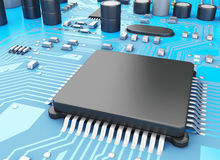 CPU di Proccesors del computer centrale 3d Fotografie Stock