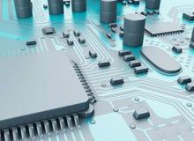 CPU di Proccesors del computer centrale 3d illustrazione di stock