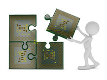 CPU di puzzle Fotografie Stock