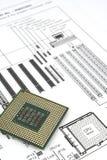 CPU-diagram Arkivfoton
