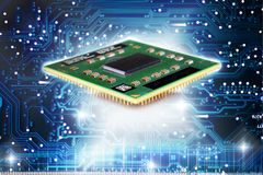 CPU and digital power Royalty Free Stock Images