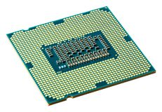 CPU downside. Isolated on white Stock Photos